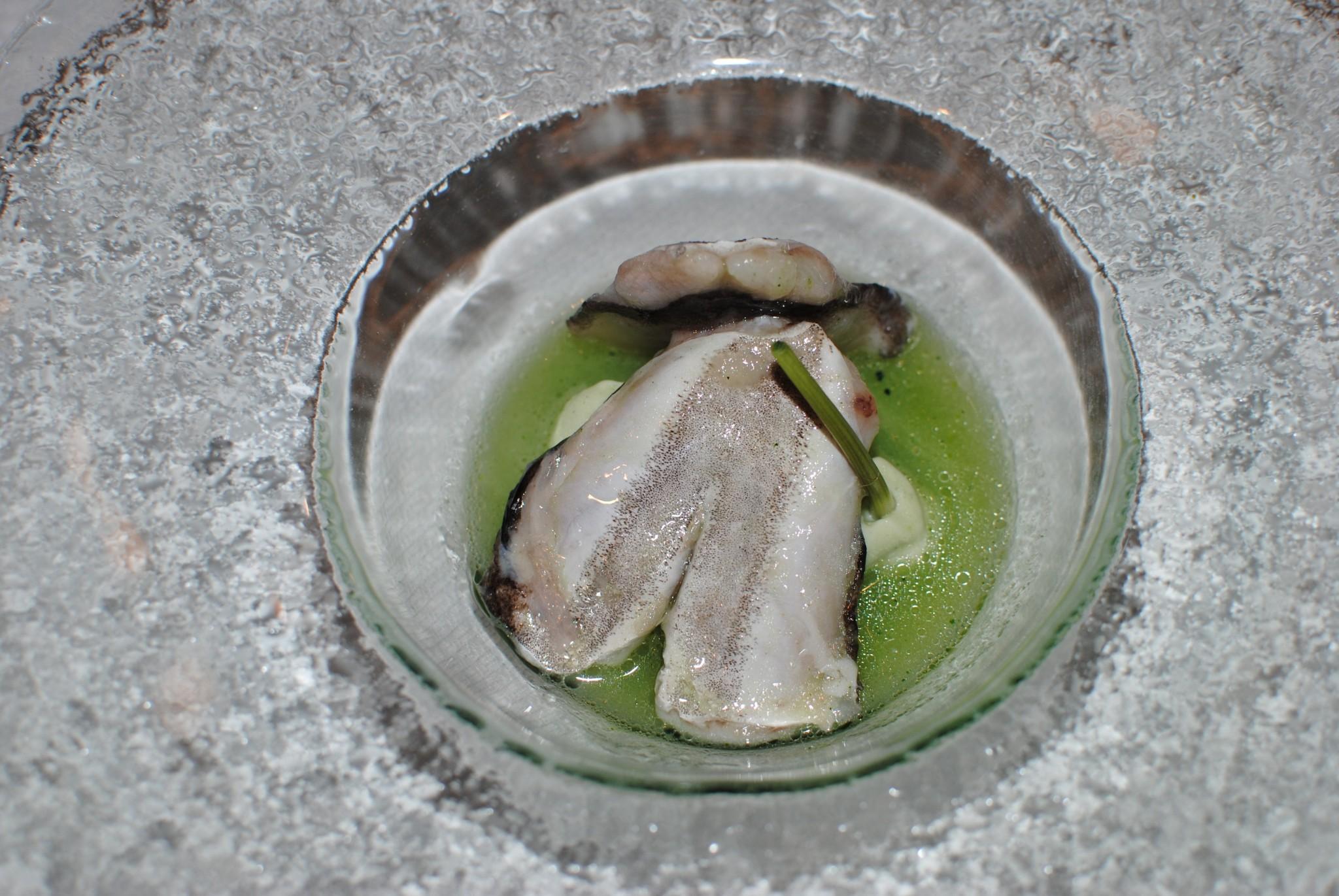 Cocochas al pil pil de Placton Casa Gerardo