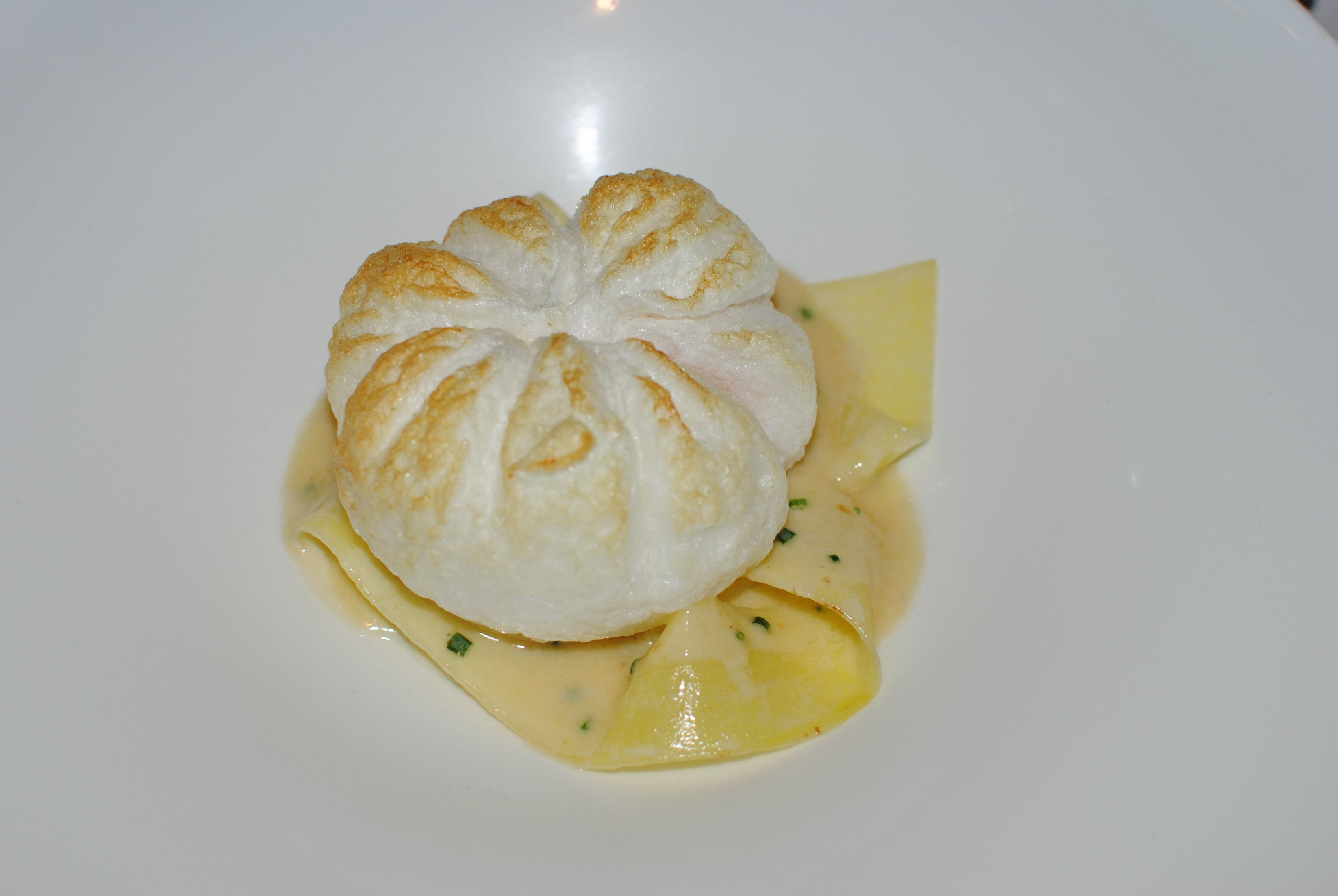 Soufflé de huevo y patata Gresca