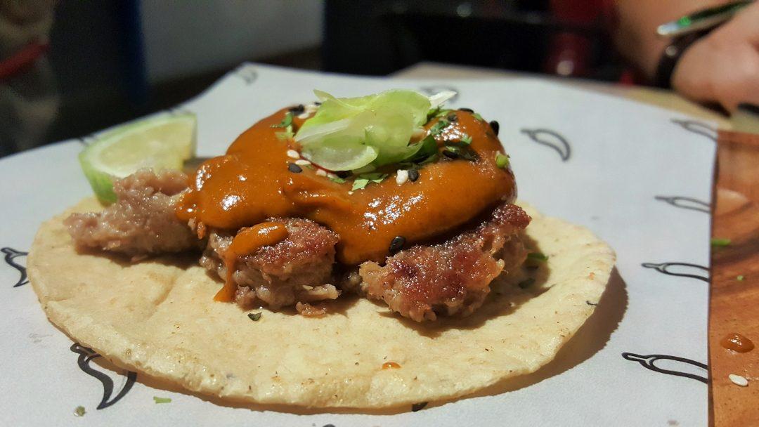 Taco carnitas pato Mawey