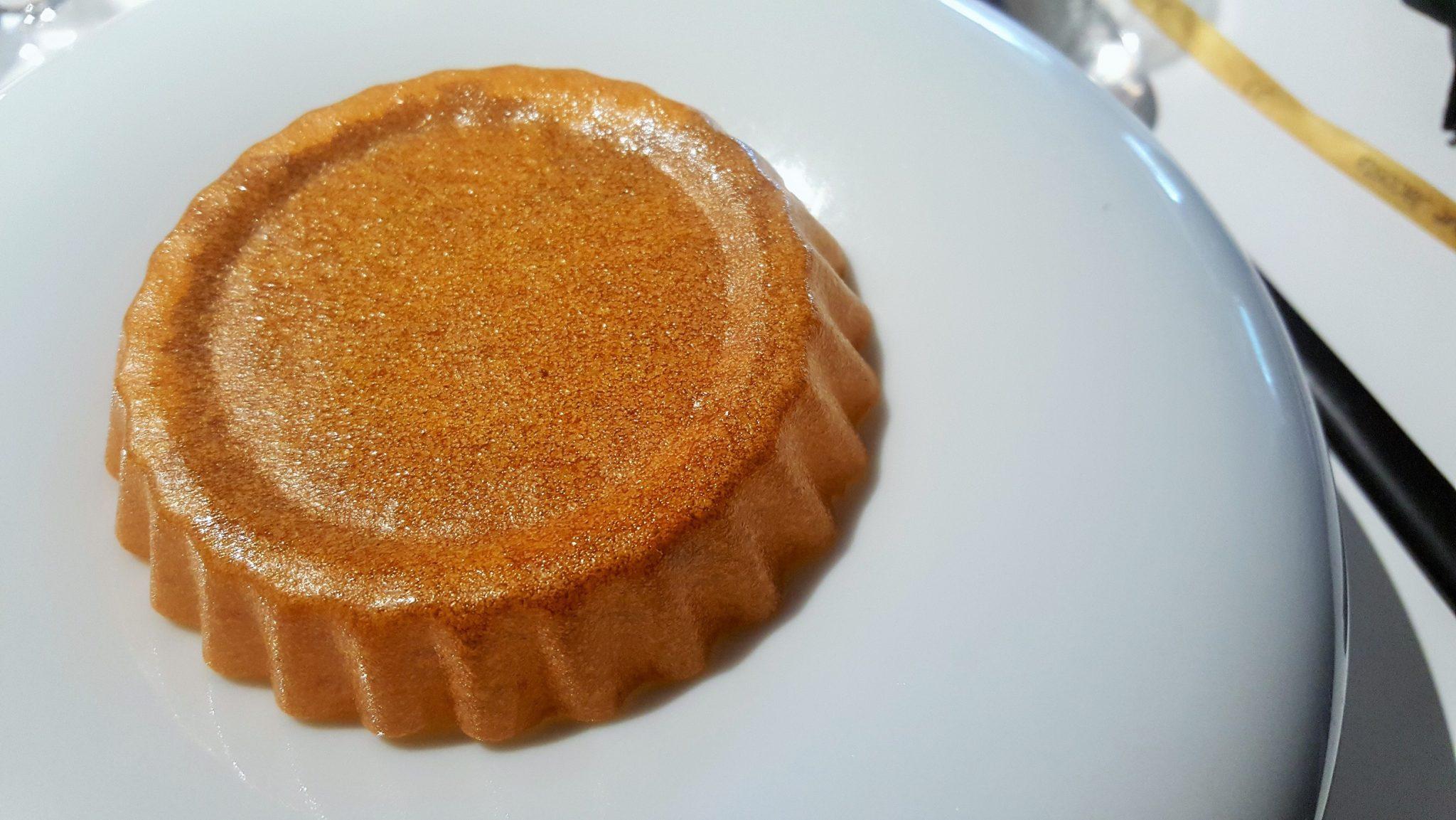 Pastisset de calabaza y chocolate Quique Dacosta