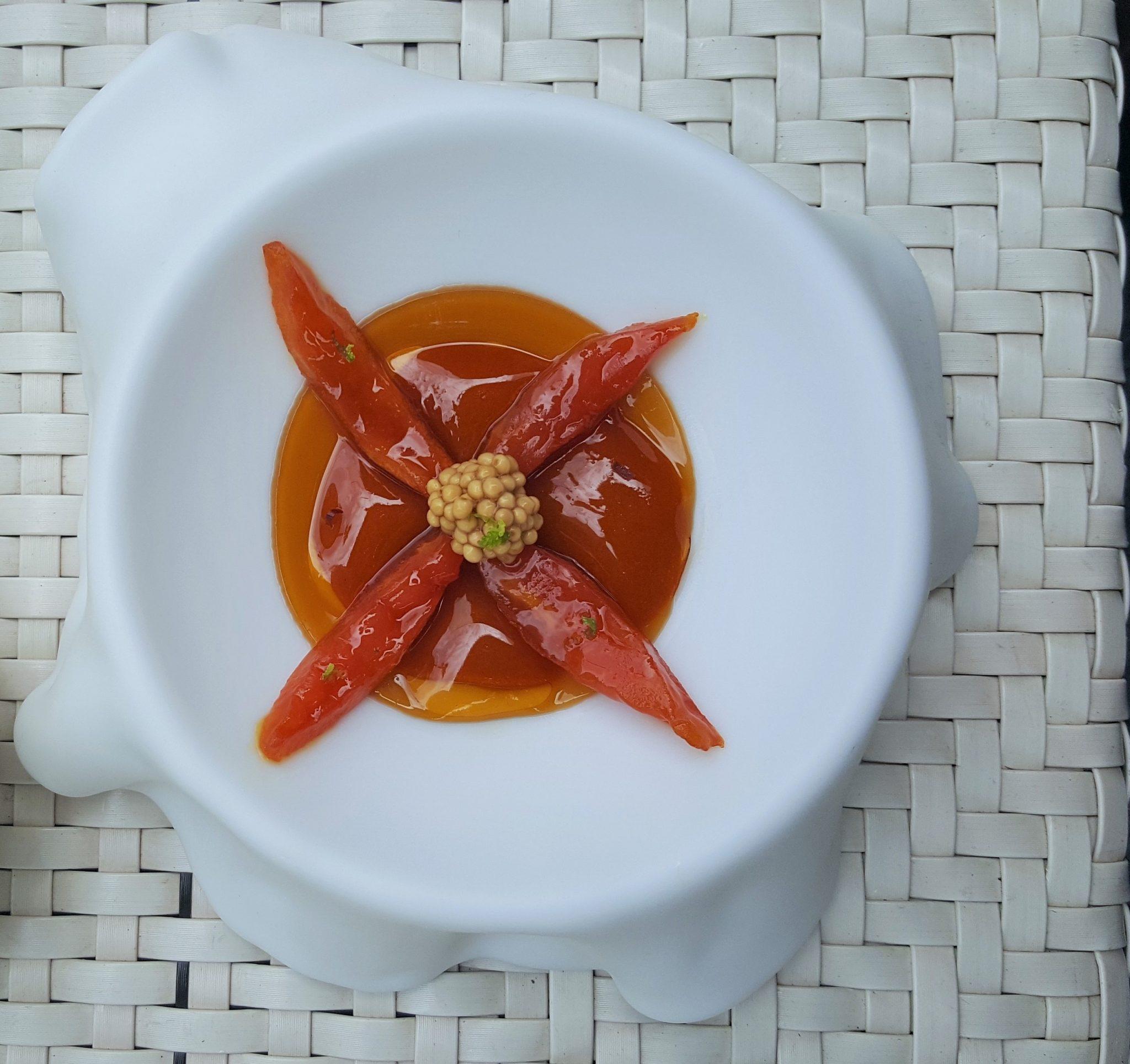 Erizo y tomate Quique Dacosta