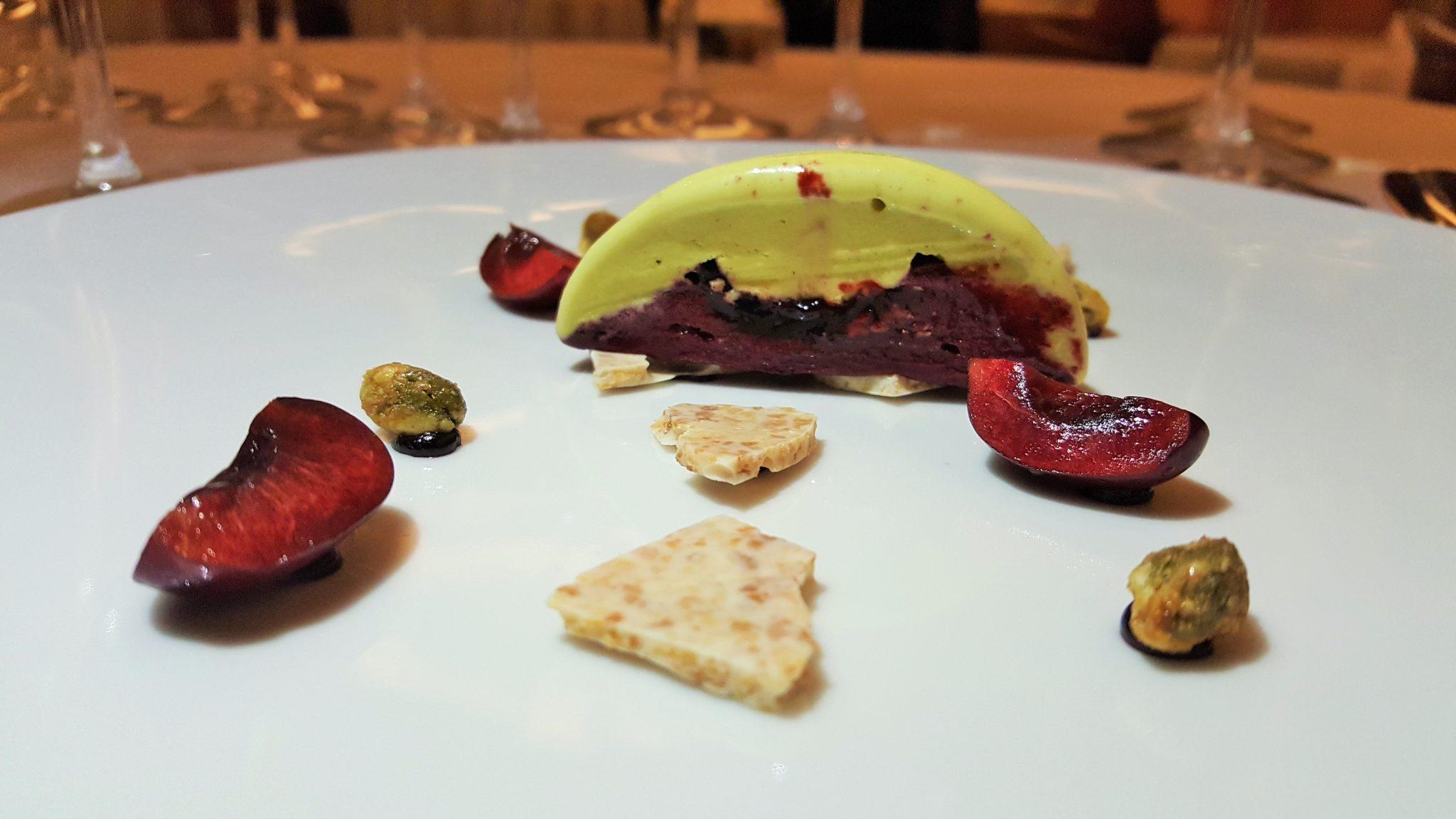 tarta helada pistacho y cerezas A'barra