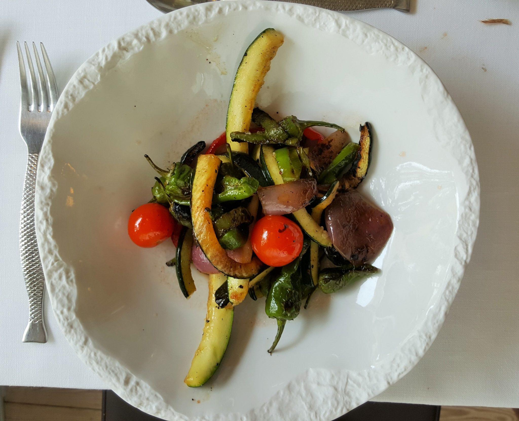 Verduras a la brasa Güeyu Mar