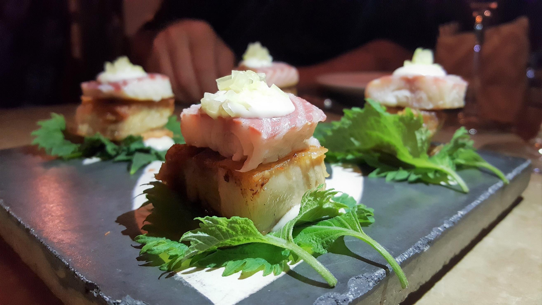 Taco shiso panceta y anguila Tula
